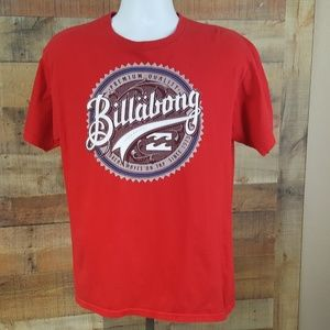 Billabong Graphic T-Shirt Men's Size M Red DW22